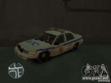 Policía de Ford Crown Victoria para GTA 4 vista hacia atrás