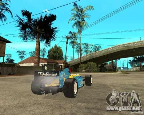 Renault F1 para GTA San Andreas vista posterior izquierda