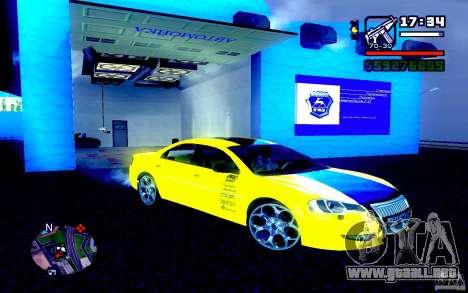 Volga Siber 2.5 AT Restailing para la visión correcta GTA San Andreas