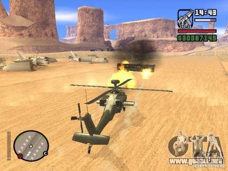 AH-64D Longbow Apache para vista inferior GTA San Andreas