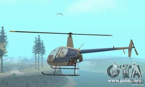 Robinson R22 para visión interna GTA San Andreas