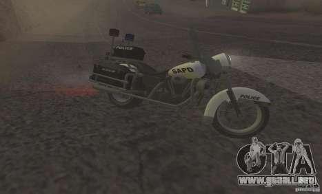 Motocicleta de la policía de GTA TBoGT para GTA San Andreas left