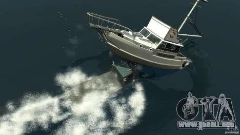Biff boat para GTA 4 vista desde abajo