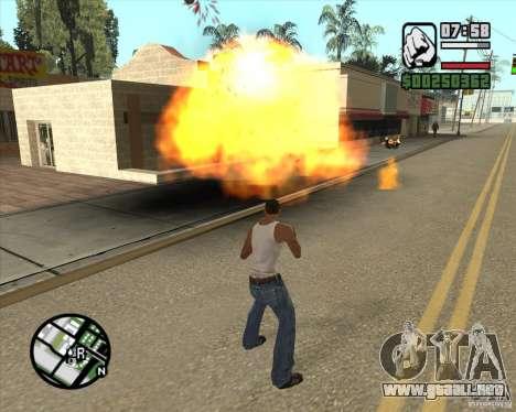 Explosión (versión para portátiles sin teclado n para GTA San Andreas