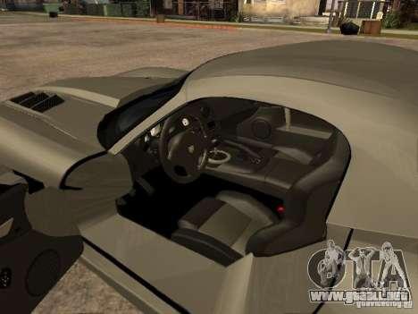 Dodge Viper para GTA San Andreas vista hacia atrás