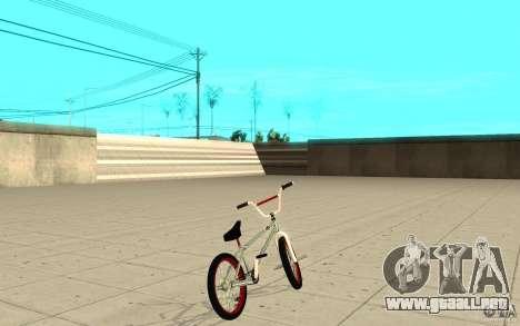REAL Street BMX mod Chrome Edition para GTA San Andreas vista posterior izquierda