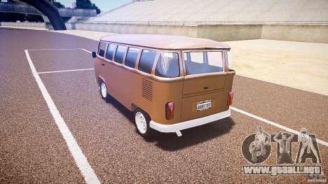 Volkswagen Kombi Bus para GTA 4 vista interior