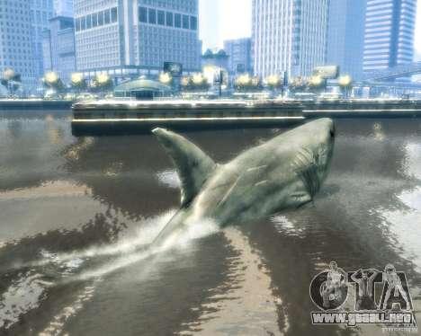 Megalodon para GTA 4 vista hacia atrás