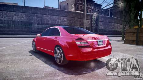 Mercedes Benz w221 s500 v1.0 cls amg wheels para GTA 4 Vista posterior izquierda