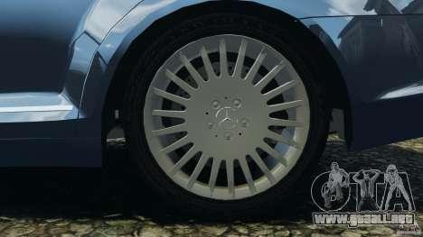Mercedes-Benz W221 S500 2006 para GTA 4 vista desde abajo