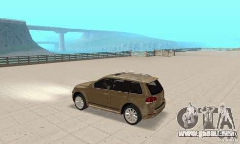 Volkswagen Touareg 2008 para GTA San Andreas vista hacia atrás
