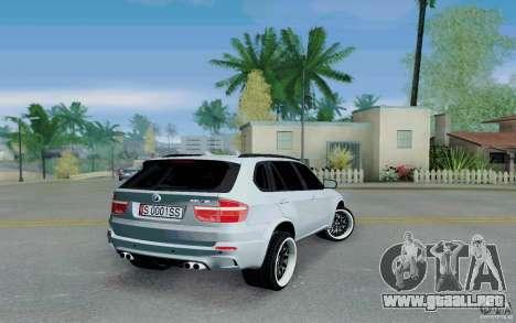 BMW X5M E70 para GTA San Andreas vista posterior izquierda