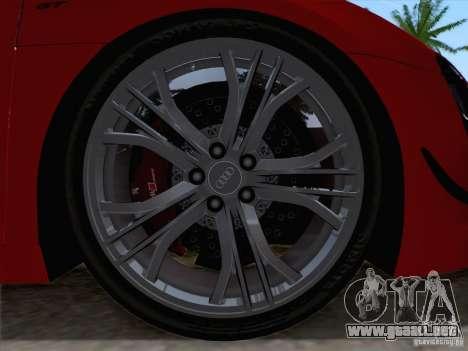 Audi R8 GT Spyder para GTA San Andreas vista hacia atrás