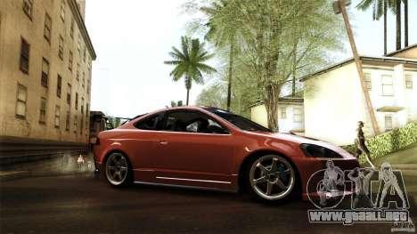 Acura RSX Spoon Sports para GTA San Andreas vista posterior izquierda