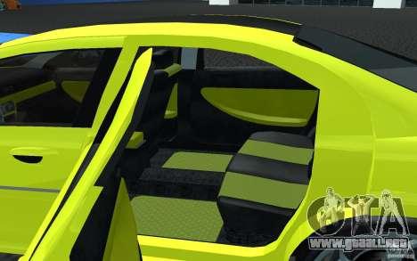 Volga Siber 2.5 AT Restailing para GTA San Andreas vista posterior izquierda