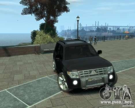 Mitsubishi Pajero para GTA 4 Vista posterior izquierda