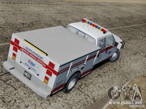 Ford F-350 AMR Supervisor para visión interna GTA San Andreas