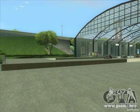 Las plataformas altas en las estaciones de tren para GTA San Andreas quinta pantalla