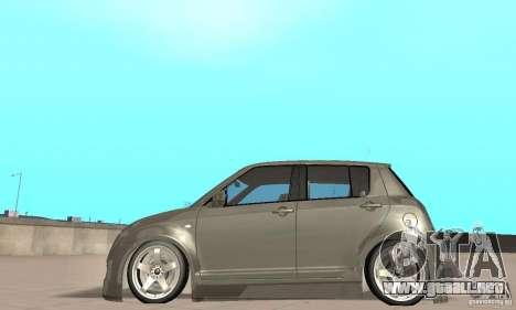Suzuki Swift Tuning para GTA San Andreas vista posterior izquierda