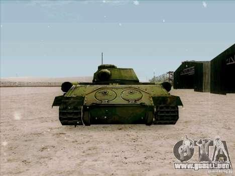T-34 para GTA San Andreas vista posterior izquierda