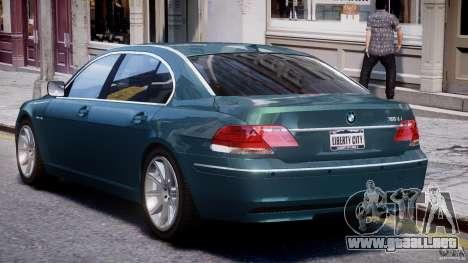 BMW 7 Series E66 para GTA 4 vista superior