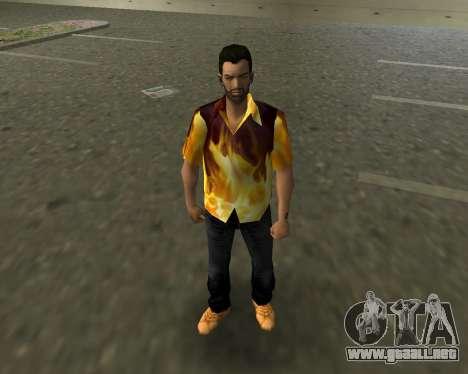 Camisa con llamas para GTA Vice City
