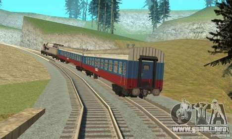 El coche de los ferrocarriles rusos Rusia para GTA San Andreas