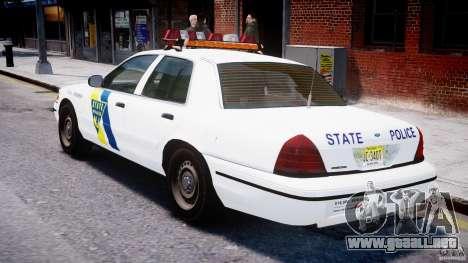 Ford Crown Victoria New Jersey State Police para GTA 4 visión correcta