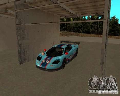 McLaren F1 para visión interna GTA San Andreas
