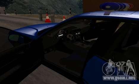 BMW M5 POLICE para vista lateral GTA San Andreas