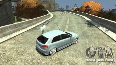 Audi S3 2009 para GTA 4 vista superior