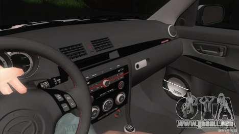 Mazda MazdaSpeed 3 para vista lateral GTA San Andreas