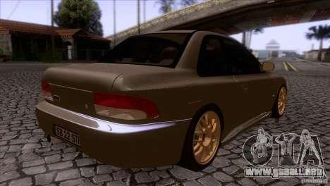 Subaru Impreza 22 para la visión correcta GTA San Andreas