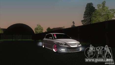 Mazda MazdaSpeed 3 para la visión correcta GTA San Andreas