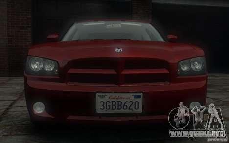 Dodge Charger RT Hemi 2008 para GTA 4 vista superior