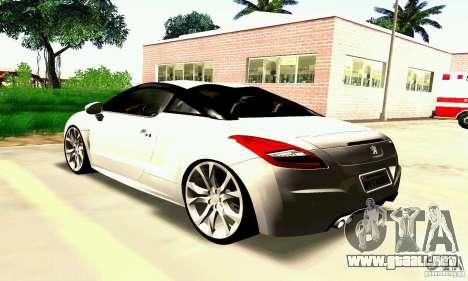 Peugeot Rcz 2011 para GTA San Andreas interior