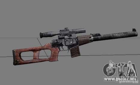 Un conjunto de armas de un acosador para GTA San Andreas novena de pantalla
