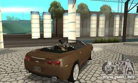 Chevrolet Camaro Concept 2007 para GTA San Andreas vista posterior izquierda