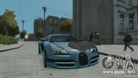 Bugatti Veyron 16.4 Super Sport para GTA 4 visión correcta