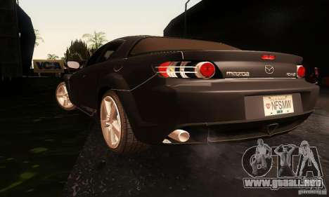 Mazda RX-8 Tuneable para GTA San Andreas left
