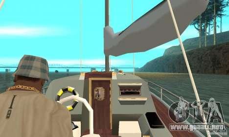 Marquis Segelyacht 09 Textures para GTA San Andreas vista hacia atrás
