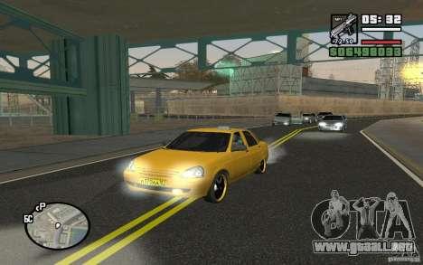 VAZ Lada Priora Taxi para GTA San Andreas
