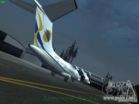 Antonov an-148 Aerosvit Ukrainian Airlines para la visión correcta GTA San Andreas
