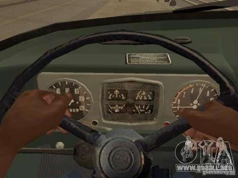 ZIL 131 camión para visión interna GTA San Andreas
