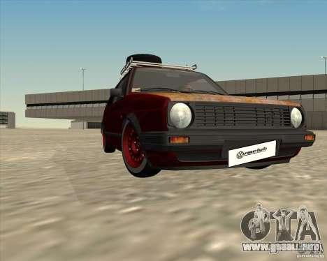 VW Golf II Shadow Crew para la vista superior GTA San Andreas