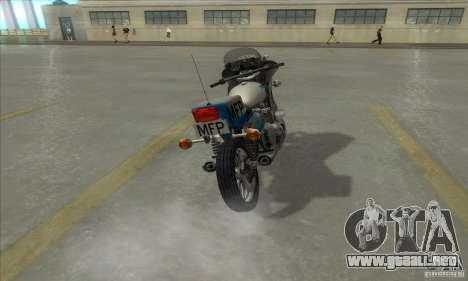 Kawasaki KZ1000 MFP para la visión correcta GTA San Andreas
