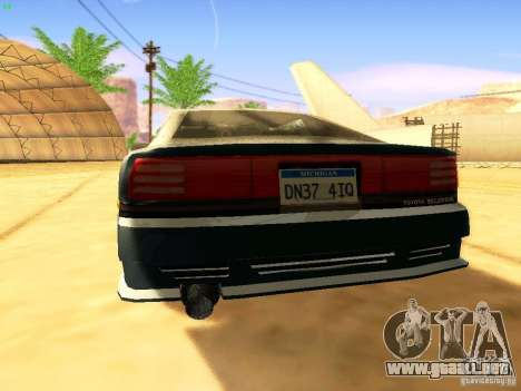 Toyota Supra para las ruedas de GTA San Andreas