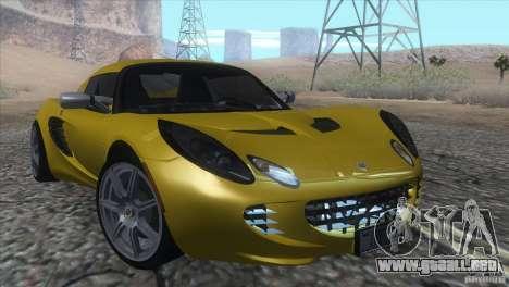Lotus Elise para GTA San Andreas vista hacia atrás