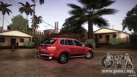 BMW X5 with Wagon BEAM Tuning para vista inferior GTA San Andreas