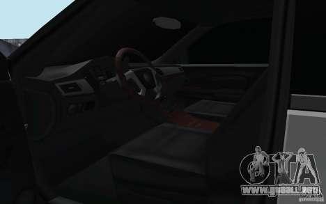 Cadillac Escalade 2008 Limo para visión interna GTA San Andreas
